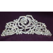 Moda de aleación de boda Tiara personalizado de alta calidad Brillante corona de cristal nupcial