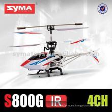 SYMA s800g palma de metal de buena calidad eléctrica de 4 canales de helicóptero
