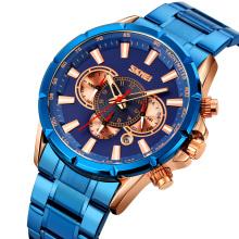 SKMEI 9241 Chronograph Watches Men Quartz Wristwatches Stainless Steel Military Watch Relogio Masculino