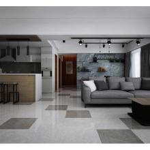 Slim Porcelain tile grey marble panel
