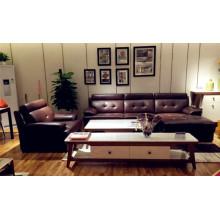 Sofá de couro contemporâneo reclinável Design