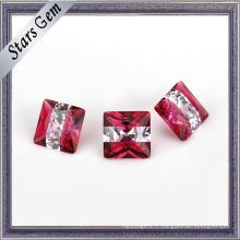 Brilliant populaire rose rose et blanc couleur pierre précieuse pour les bijoux