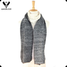 2016 Fashionable Acrylic Loop Yarn Jacquard Joint Knitted Scarf