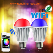 2014 Nuevo 7W RGBW / Caliente LED Bombilla Blanca