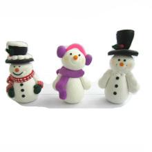 Полимерная глина Снеговик Рождественский торт Топпер рождественские украшения
