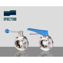 Válvula de mariposa soldada sanitaria (IFEC-DF100002)