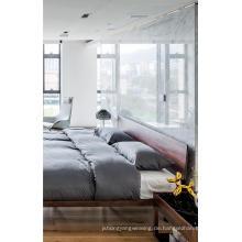 Hochwertige moderne Walnuss-Bettsätze