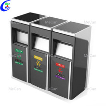 Papelera de reciclaje de acero inoxidable papelera inteligente al aire libre