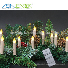 Pour les bars Décoration à la maison Églises Temples Noël Fêtes de naissance Télécommande Ensemble de lumières de Noël avec clip amovible