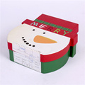 Caja de regalo decorativa del papel de la cartulina de Papá Noel de la Navidad