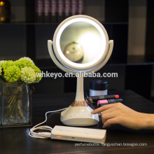 2017 hot new design led bluetooth mirror makeup mirror with music