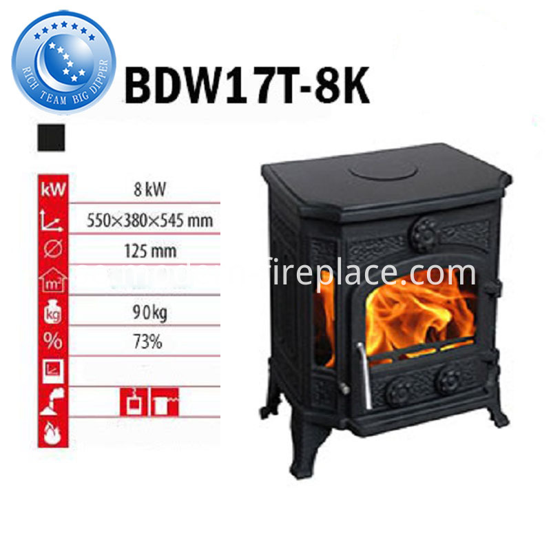 73% High Efficiency Cast Iron Stoves Wood Burning