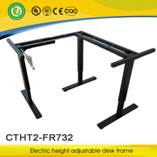 manual height adjustable school desk for work hand crack lifting table frame