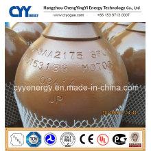 50L Hélium Oxygène Nitrogène Lar CNG Acétylène CO2 Hydrogeen CNG 150bar / 200bar Cylindre à gaz en acier sans soudure