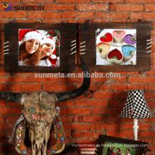 Sunmeta Sublimation Holz Rock Fotorahmen Wand hängen SH40
