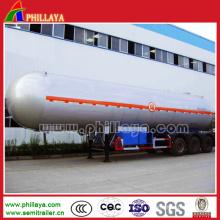 Acier inoxydable / acier au carbone / alliage Alumimun en option 3 essieux réservoir citerne huile carburant carburant transporteur citerne semi-remorque camion