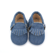 Unisex Varied Denim Mocassins Sapatas De Bebê