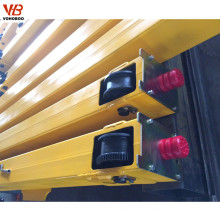 End carriage with motor of overhead crane