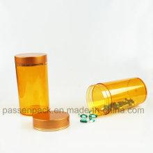 Amber Plastic Medicine Garrafa para produtos de cuidados de saúde