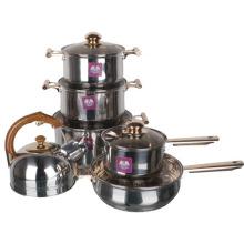 Ensemble de casseroles à papillon en acier inoxydable