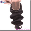 Factory wholesale price 100% virgin silk lace closure 6x6