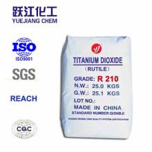 Rutilo económico dióxido de titanio R210 para la fabricación de la pintura