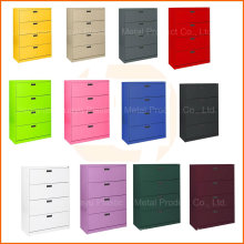 Colores personalizables Office 4 Drawers Steel Storage Filing Cabinet