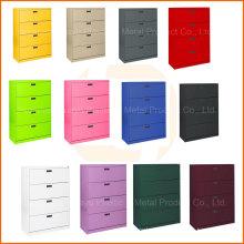 Cabinet personnalisable de classement en acier de stockage de 4 tiroirs de couleurs