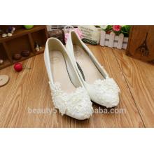 La mariposa de la perla se casó a mano los zapatos de la muchacha del zapato con el zapato de vestido de la dama de honor WS025