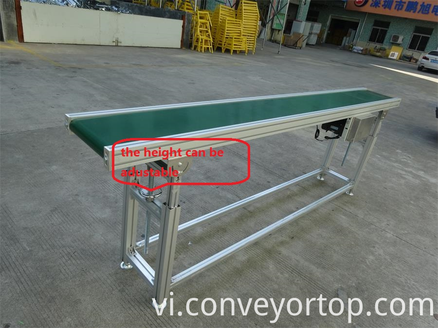 telescopic leg PVC belt conveyor
