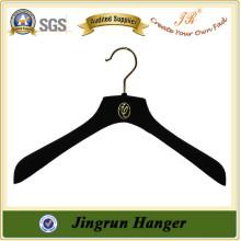 Alibaba confiável Fornecedor Velvet Black Hanger Plastic Hanger