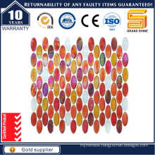 Latest Design Oval Shape Flooring Glass Mosaic Kse9515