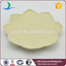 Vente en gros de petits plats en céramique avec design de fleurs