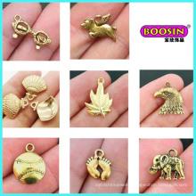 Wholesale Zinc Alloy Custom Made Fashion Gold Jewelry Charm