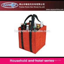 Bolso ecológico de la botella de vino del bolso del yute hecho en China