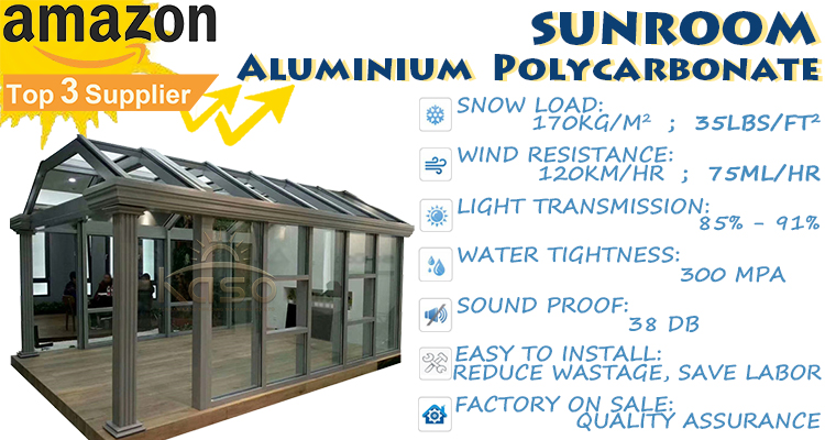 Outdoor Aluminum Glass House Sunroom