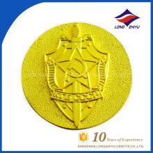 Kundenspezifische hohe Qualität harte Emaille-Goldsilber-Münze, kundenspezifische Metall-Herausforderungs-Münze