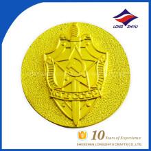 Pièce en argent d'or en émail dur haute qualité personnalisée, pièce de monnaie en métal personnalisée