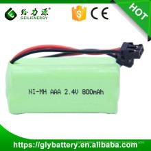 Paquete de batería inalámbrico del teléfono de 800mAh 2.4V NIMH AAA para Sanyo
