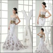 JJ3024 Бесплатная доставка бисером вышивка Русалка свадебные платья 2013