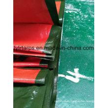 China Military Green/Orange PE Tarpaulin Sheet, Poly Tarp Truck Cover