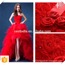 Robe De Soiree 2016 Red Lace Evening Dresses Bride Banquet Elegant Floor-length Party Prom Dress