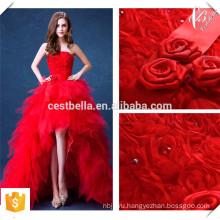 Мантия-де-вечер 2016 Красный кружева Вечерние платья невесты Банкетный элегантный Пол-длина вечернее платье выпускного вечера