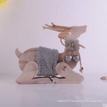 Décoration de Noël Décoration de table en bois Jouet Wapiti