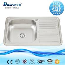 Dissipador incorporado 500mm da cozinha do dreno SUS304 do OEM de Foshan com proteção de borda