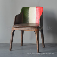 Italian Flag Leather Armrest Poliform Grace Chair (SP-HC315)