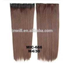 2014 New 24inch Long Clip In On Hair Extensions clip in synthetic hair extensions with 5 clip