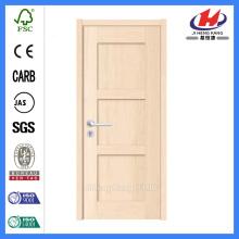 * JHK-SK03 Portas interiores de madeira Nova porta de madeira de design Portas arqueadas de madeira