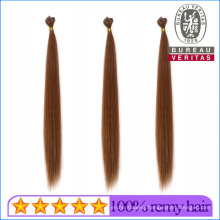 Silk Straight Top Grade Sample Available Blonde Hair Drawn Brazilian Remy Flat Tip Hair