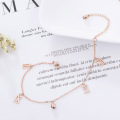 Kustom Rose Gold Roman Numeral Charm Gelang Kecil